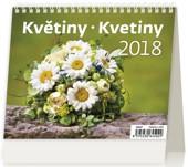MiniMax Květiny/Kvetiny - stolní kalendář 2018
